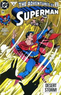 Cover for Adventures of Superman (1987 series) #490 [Direct]
