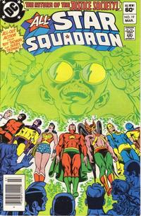 Cover Thumbnail for All-Star Squadron (DC, 1981 series) #19 [Newsstand]