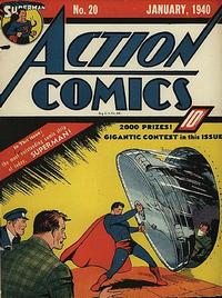 Cover Thumbnail for Action Comics (DC, 1938 series) #20