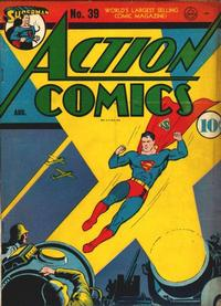 Cover for Action Comics (1938 series) #39