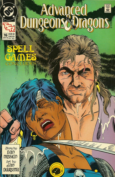 Cover for Advanced Dungeons & Dragons Comic Book (DC, 1988 series) #16