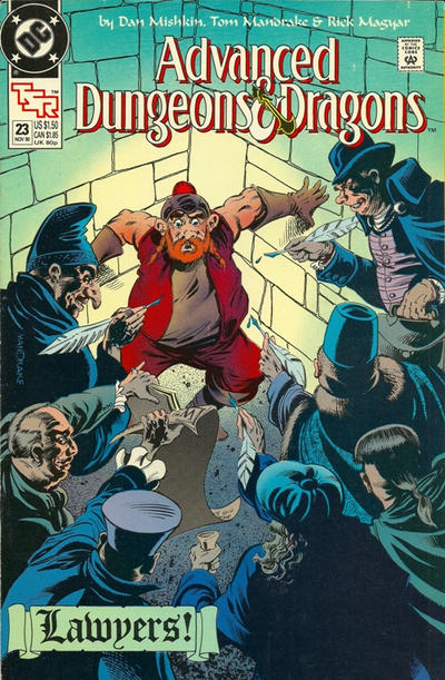 Cover for Advanced Dungeons & Dragons Comic Book (DC, 1988 series) #23