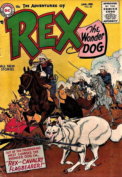 Cover for The Adventures of Rex the Wonder Dog (DC, 1952 series) #25