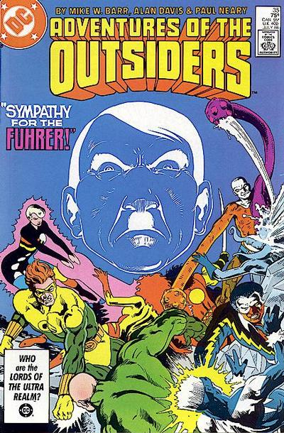 Cover for Adventures of the Outsiders (1986 series) #35 [Newsstand]