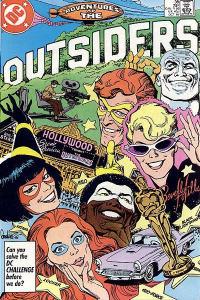 Cover for Adventures of the Outsiders (1986 series) #38 [Newsstand Edition]