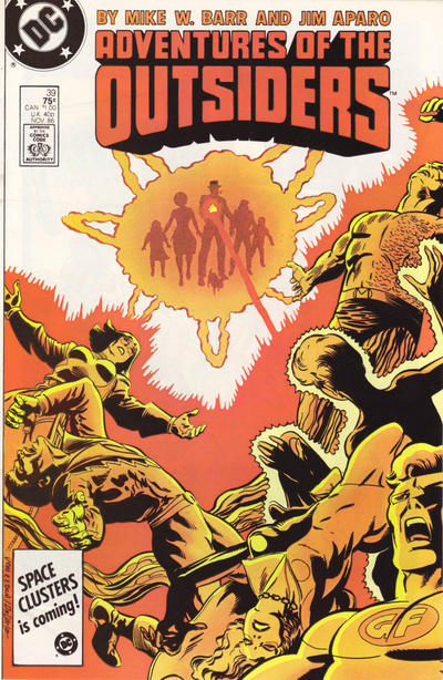 Cover for Adventures of the Outsiders (1986 series) #39 [Newsstand Edition]