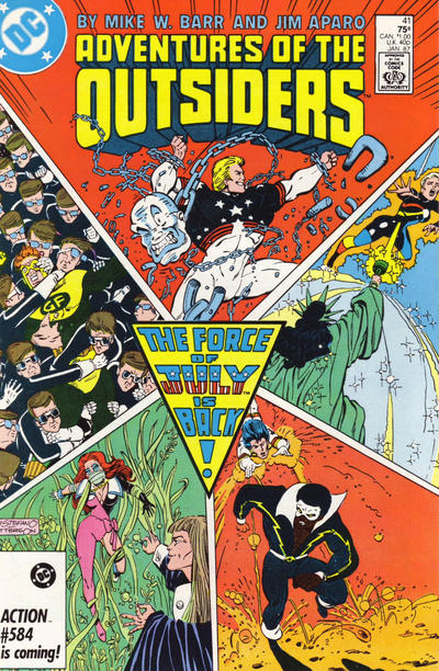 Cover for Adventures of the Outsiders (1986 series) #41