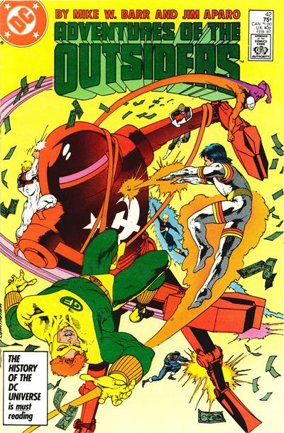 Cover for Adventures of the Outsiders (1986 series) #42 [Newsstand Edition]