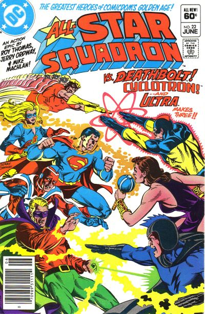 Cover for All-Star Squadron (DC, 1981 series) #22 [Newsstand]