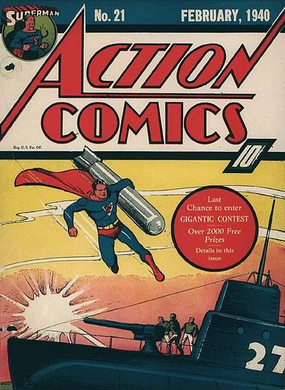 Cover for Action Comics (DC, 1938 series) #21