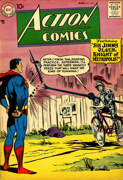 Cover for Action Comics (DC, 1938 series) #231