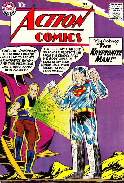 Cover for Action Comics (DC, 1938 series) #249