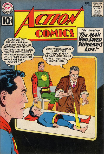 Cover for Action Comics (1938 series) #281