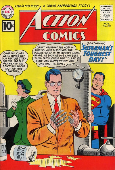 Cover for Action Comics (1938 series) #282