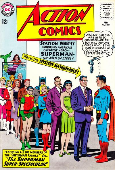 Cover for Action Comics (DC, 1938 series) #309