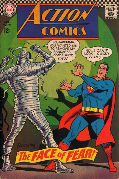Cover for Action Comics (DC, 1938 series) #349