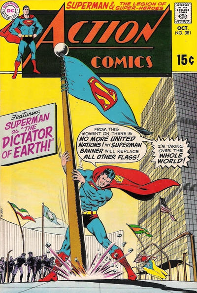 Cover for Action Comics (DC, 1938 series) #381