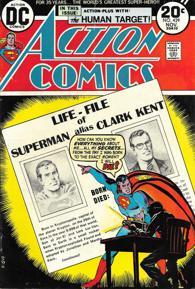 Cover for Action Comics (DC, 1938 series) #429