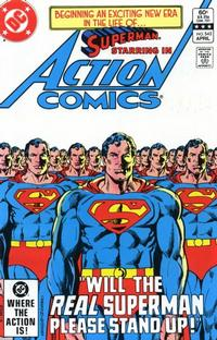 Cover Thumbnail for Action Comics (DC, 1938 series) #542 [Direct-Sales]