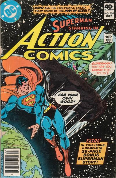 Cover for Action Comics (DC, 1938 series) #509