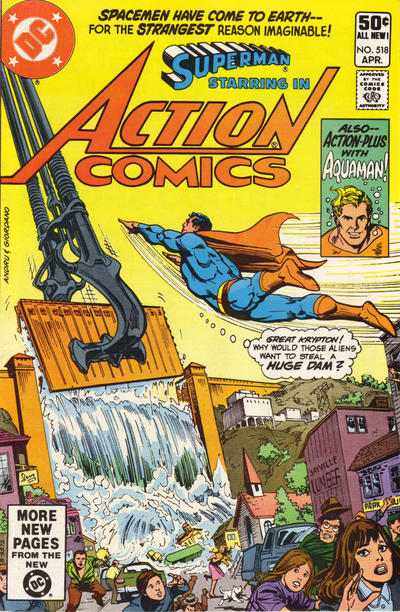 Cover for Action Comics (DC, 1938 series) #518 [Direct]