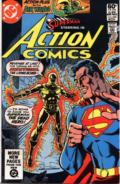 Cover for Action Comics (1938 series) #525 [Direct]