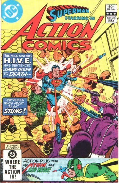 Cover for Action Comics (1938 series) #533 [Direct]