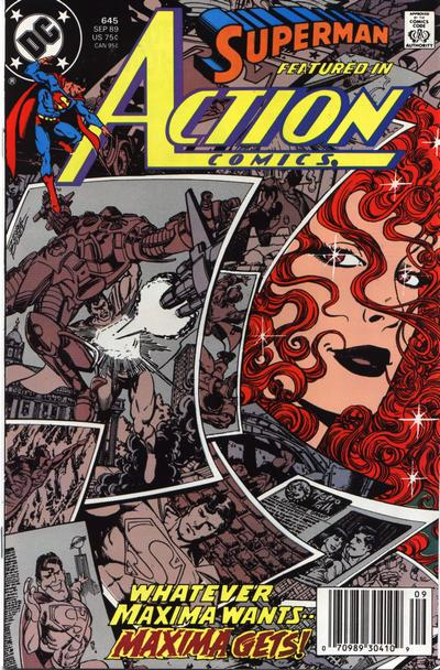 Cover for Action Comics (DC, 1938 series) #645