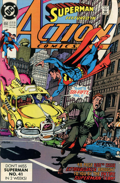 Cover for Action Comics (DC, 1938 series) #650