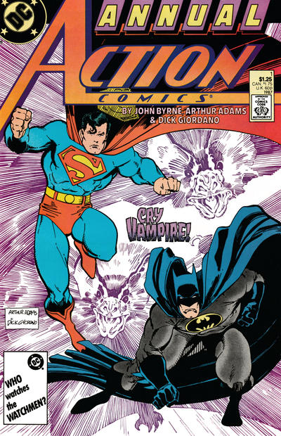 Cover for Action Comics Annual (DC, 1987 series) #1 [Newsstand]