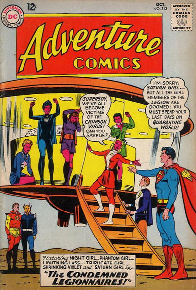 Cover for Adventure Comics (1938 series) #313