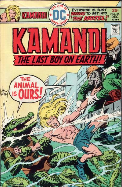 Cover for Kamandi, The Last Boy on Earth (DC, 1972 series) #36