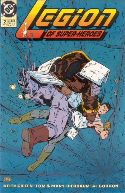 Cover for Legion of Super-Heroes (DC, 1989 series) #2