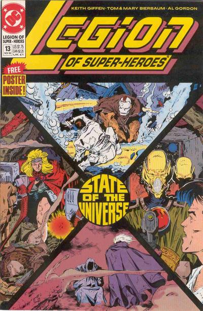 Cover for Legion of Super-Heroes (DC, 1989 series) #13
