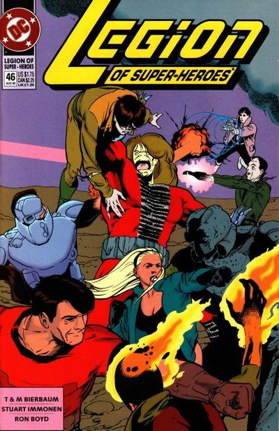 Cover for Legion of Super-Heroes (DC, 1989 series) #46