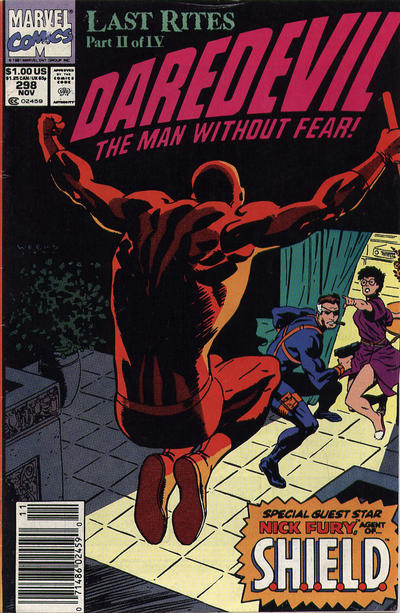 Cover for Daredevil (Marvel, 1964 series) #298 [Direct Edition]