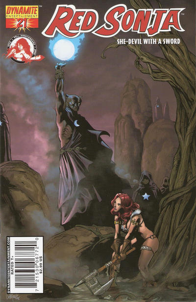 Cover for Red Sonja (Dynamite Entertainment, 2005 series) #21 [Joe Prado Cover]
