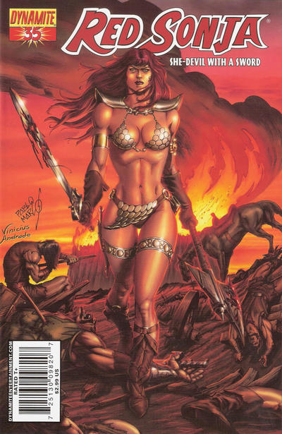 Cover for Red Sonja (Dynamite Entertainment, 2005 series) #35 [Mel Rubi Cover]