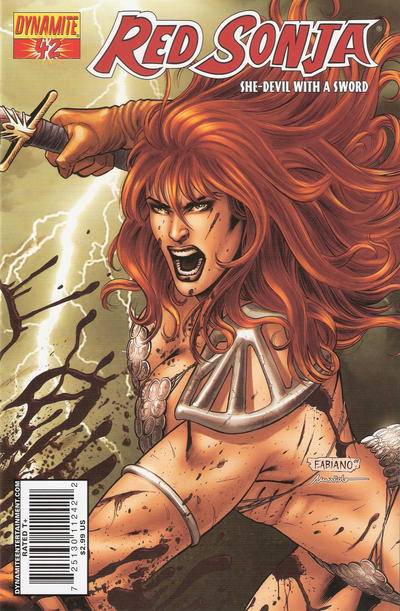 Cover for Red Sonja (Dynamite Entertainment, 2005 series) #42 [Cover A]