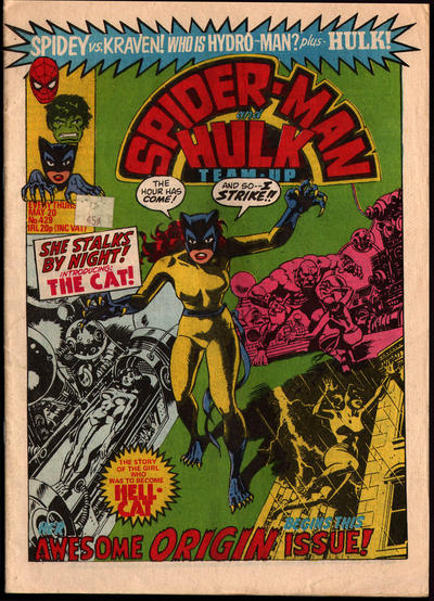 Cover for Spider-Man and Hulk Weekly (Marvel UK, 1980 series) #429