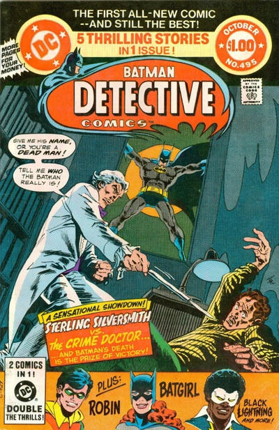 Cover for Detective Comics (DC, 1937 series) #495 [Direct Sales Variant]