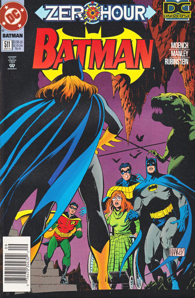 Cover for Batman (DC, 1940 series) #511