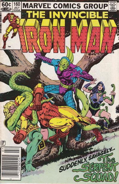 Cover for Iron Man (Marvel, 1968 series) #160 [Direct Edition]