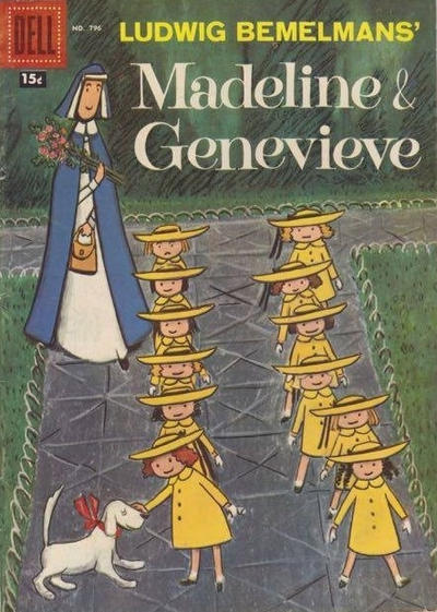 Cover for Four Color (Dell, 1942 series) #796 - Ludwig Bemelmans' Madeline & Genevieve