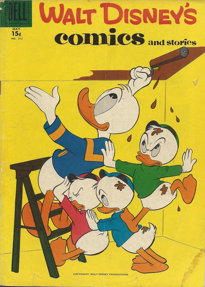 Cover for Walt Disney's Comics and Stories (Dell, 1940 series) #v18#8 (212)