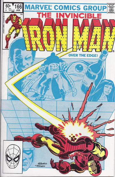 Cover for Iron Man (Marvel, 1968 series) #166 [Newsstand Edition]