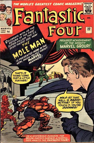 Cover for Fantastic Four (Marvel, 1961 series) #22