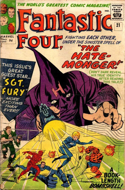 Cover for Fantastic Four (Marvel, 1961 series) #21