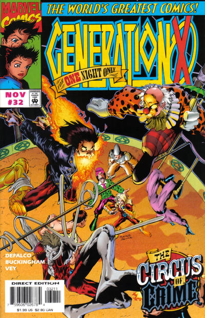 Cover for Generation X (Marvel, 1994 series) #32 [Direct Edition]