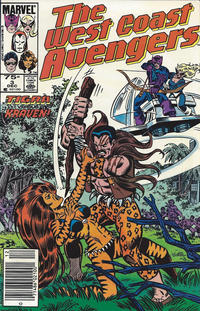 Cover for West Coast Avengers (Marvel, 1985 series) #3 [Newsstand Edition]